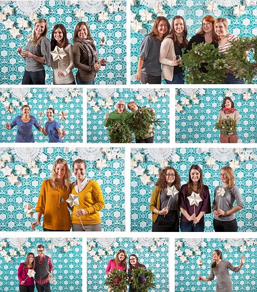 DIY Christmas Photography Backdrops  happy holiday diy wreaths in philly – Design Sponge