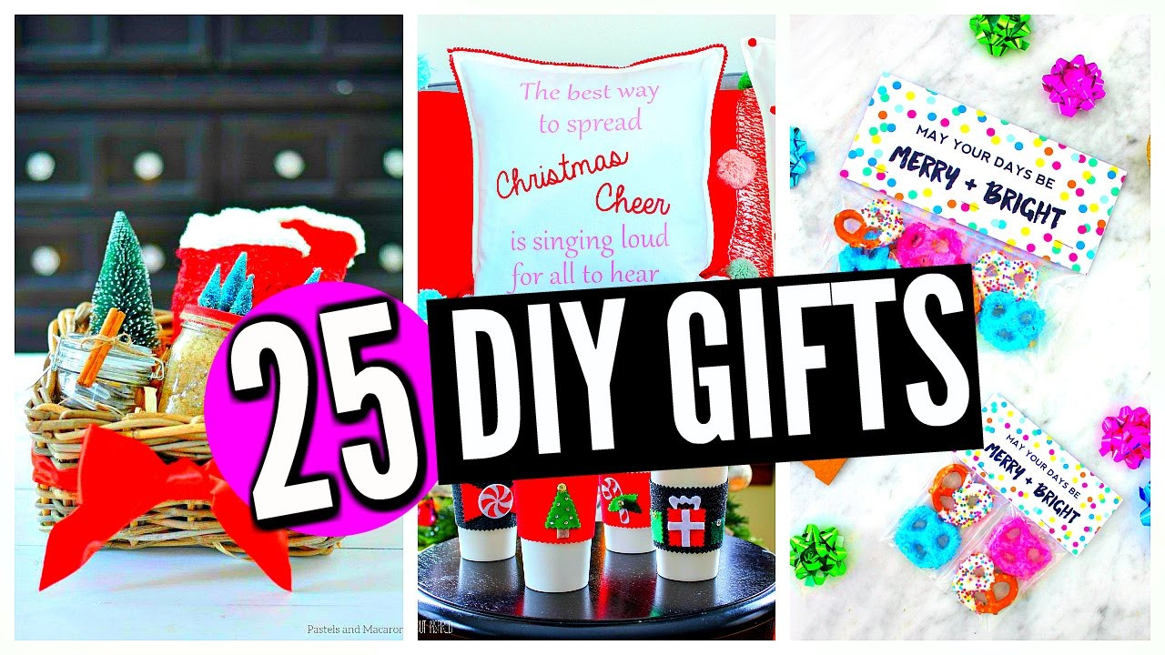 DIY Christmas Presents For Mom  25 DIY Christmas Gifts For Friends Family Boyfriend