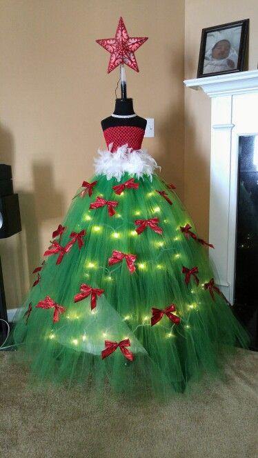 DIY Christmas Tree Costumes  Christmas tutu tree Unique Pinterest