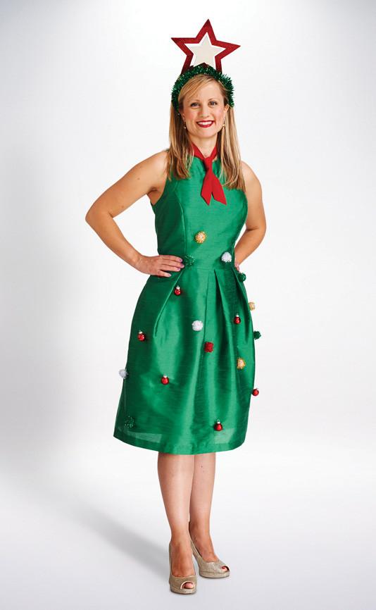 DIY Christmas Tree Costumes  Christmas Tree Costume Womens Halloween Costumes