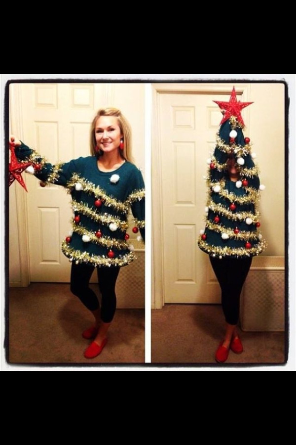 DIY Christmas Tree Costumes  Christmas Tree DIY Costume Great alternative for an ugly
