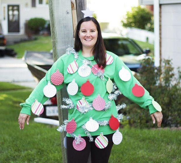 DIY Christmas Tree Costumes  Quick and Easy DIY Christmas Tree Costume