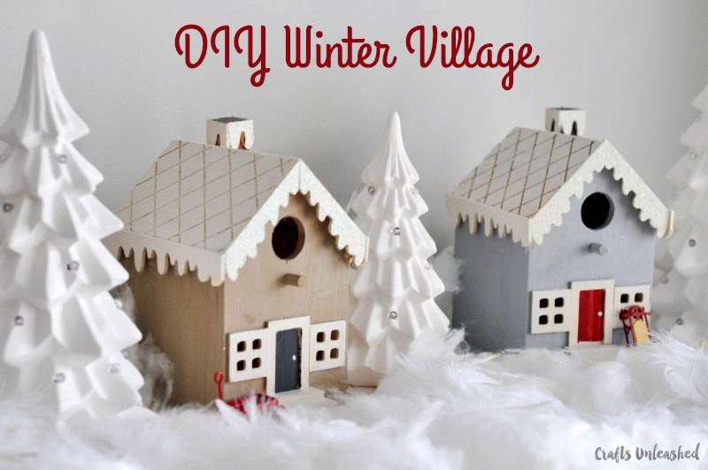 DIY Christmas Village  DIY Christmas Village Step by Step Crafts Unleashed