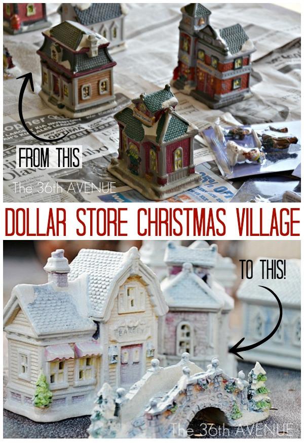 DIY Christmas Village  The 36th AVENUE DIY Dollar Store Christmas Village