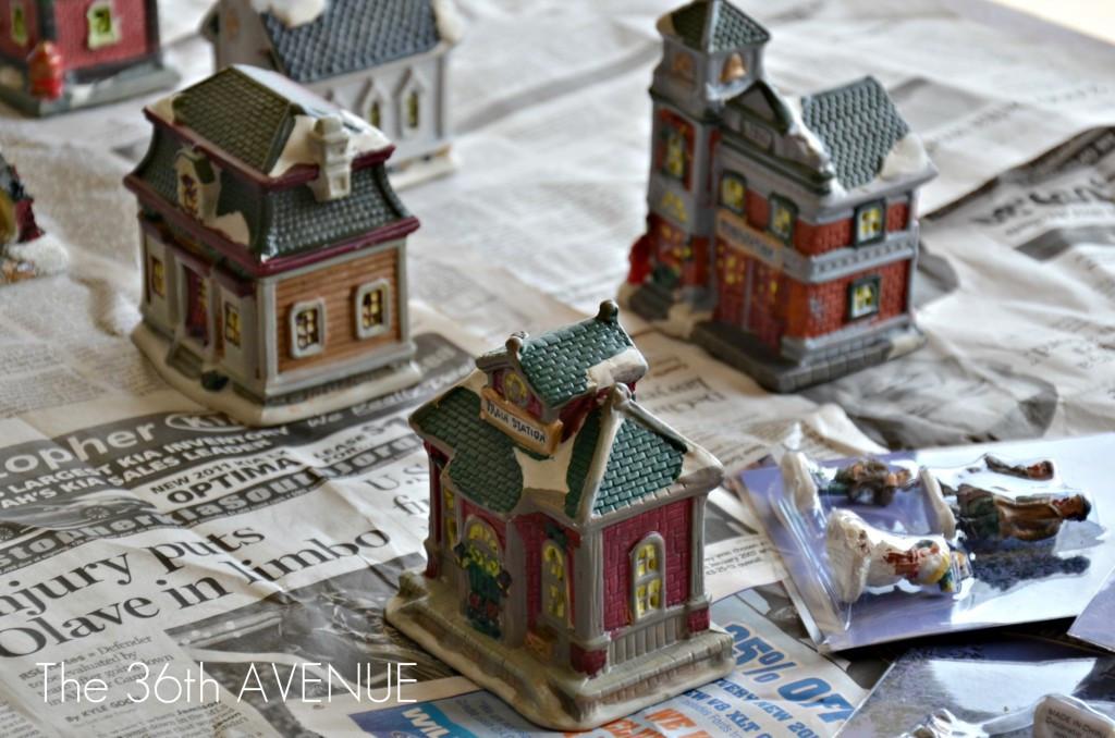 DIY Christmas Village  DIY Dollar Store Christmas Village The 36th AVENUE