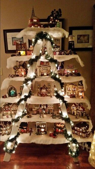DIY Christmas Village  60 of the BEST DIY Christmas Decorations Kitchen Fun
