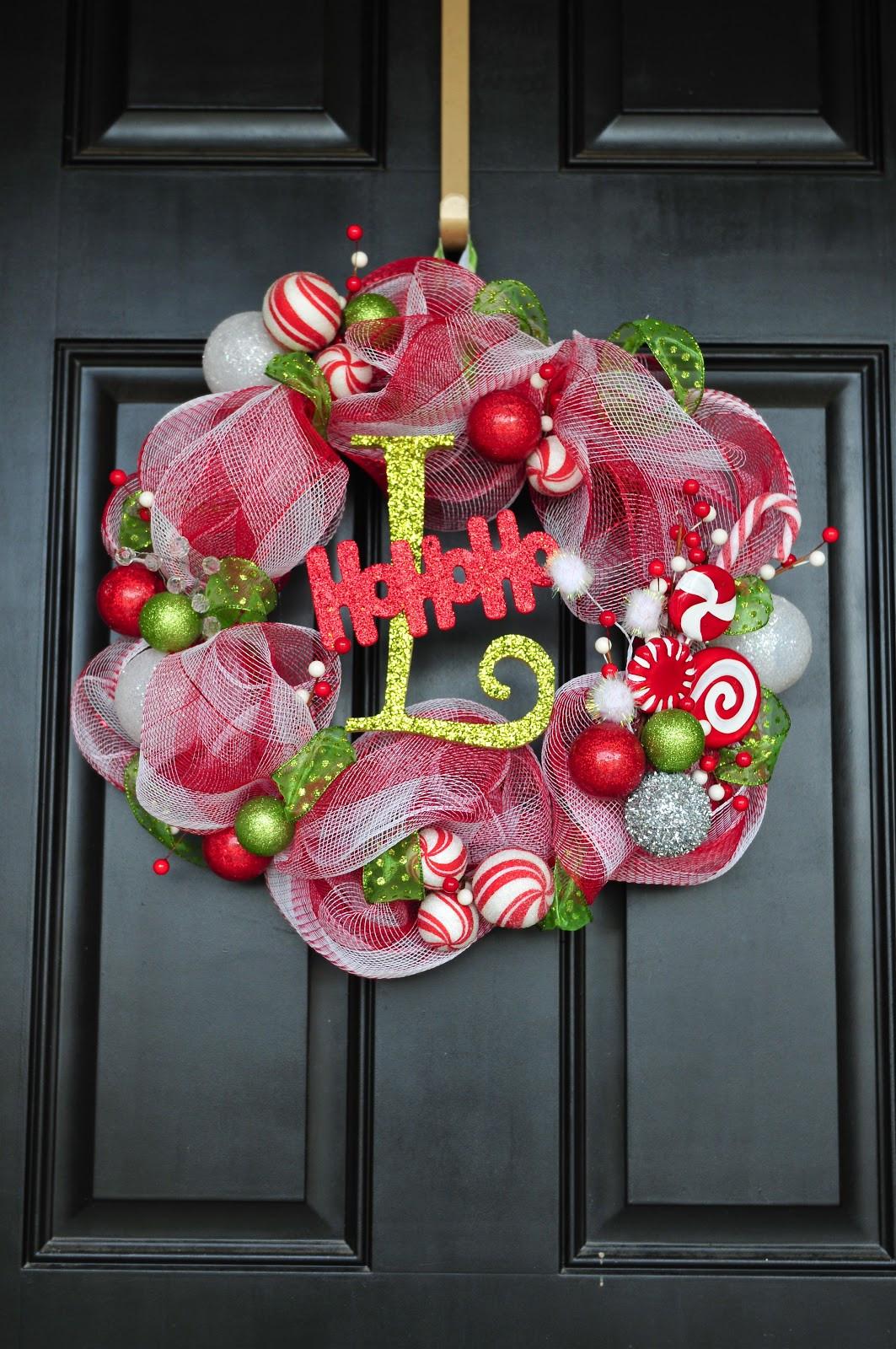 DIY Christmas Wreath Ideas  DIY Til We Die Easy Christmas mesh wreaths