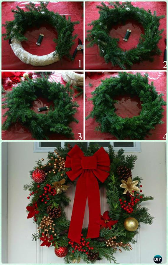 DIY Christmas Wreath Ideas  DIY Christmas Wreath Craft Ideas Holiday Decoration