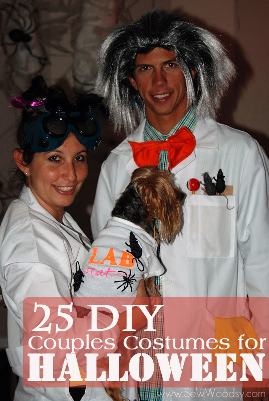 DIY Costume For Couples  25 DIY Couples Costumes for Halloween Sew Woodsy