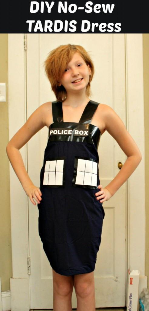 DIY Doctor Costumes  DIY Tardis Costume From Dr Who No Sew – Slap Dash Mom