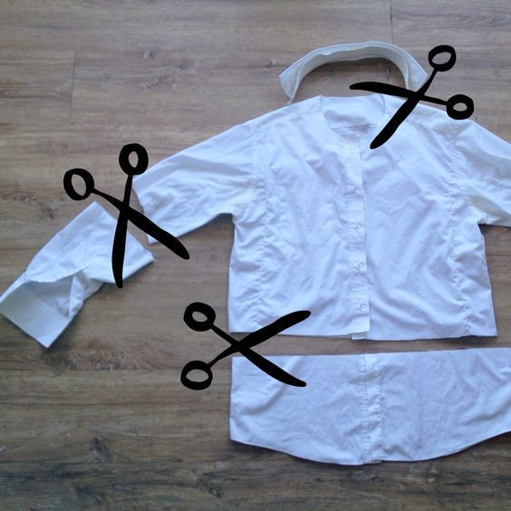 DIY Doctor Costumes  Up cycling daddy s old shirt in to a doctor s coat for