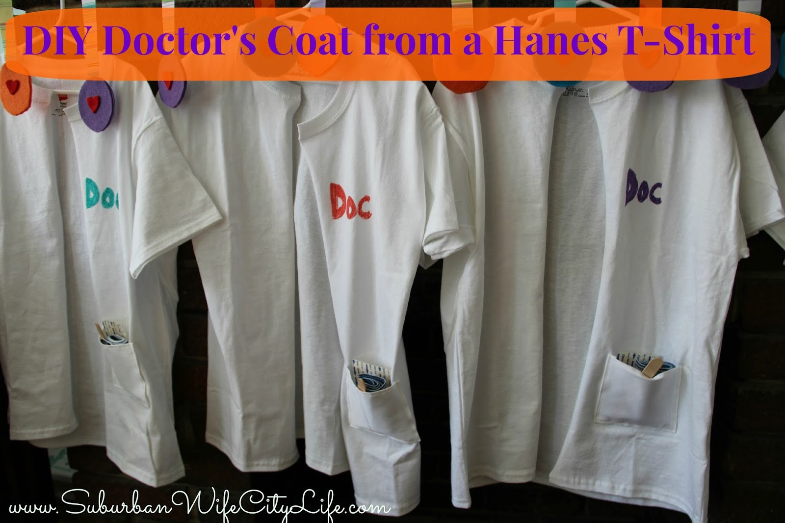 DIY Doctor Costumes  I was amazed with how easy it was to make them into the