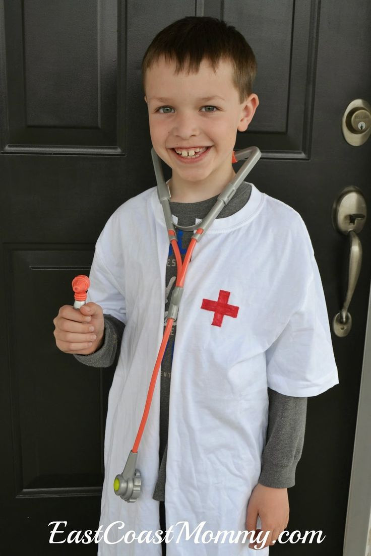 DIY Doctor Costumes  No Sew Doctor Lab Coat Imagination Play
