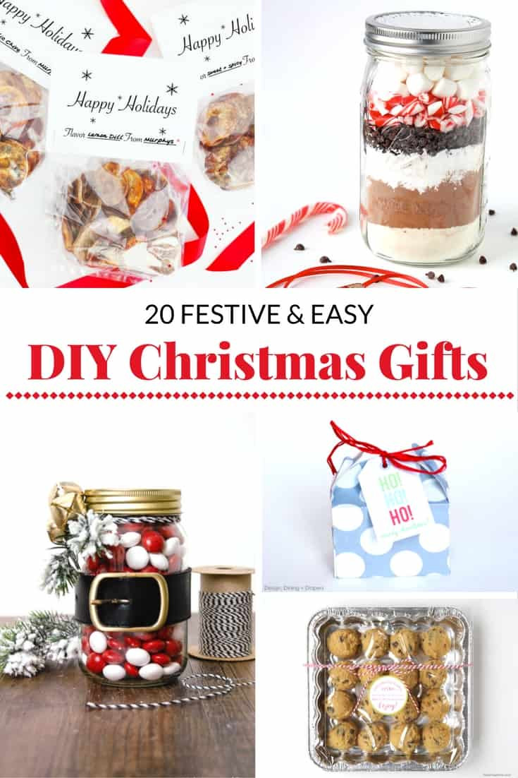 DIY Easy Christmas Gifts  20 FESTIVE AND EASY DIY CHRISTMAS GIFT IDEAS Mommy Moment