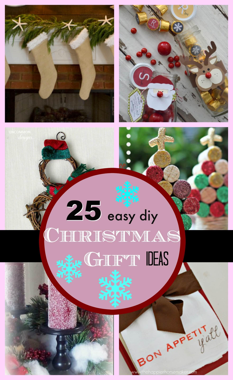 DIY Easy Christmas Gifts  25 DIY Easy Christmas Gift Ideas PinkWhen