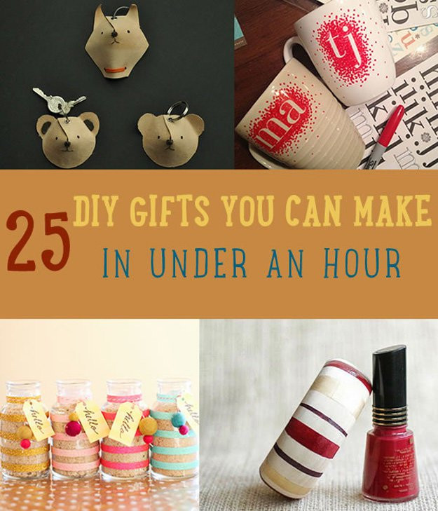 DIY Easy Christmas Gifts  25 DIY Gifts You Can Make in Under an Hour DIY Ready