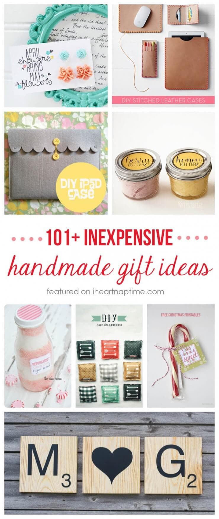DIY Easy Christmas Gifts  50 homemade t ideas to make for under $5 I Heart Nap Time