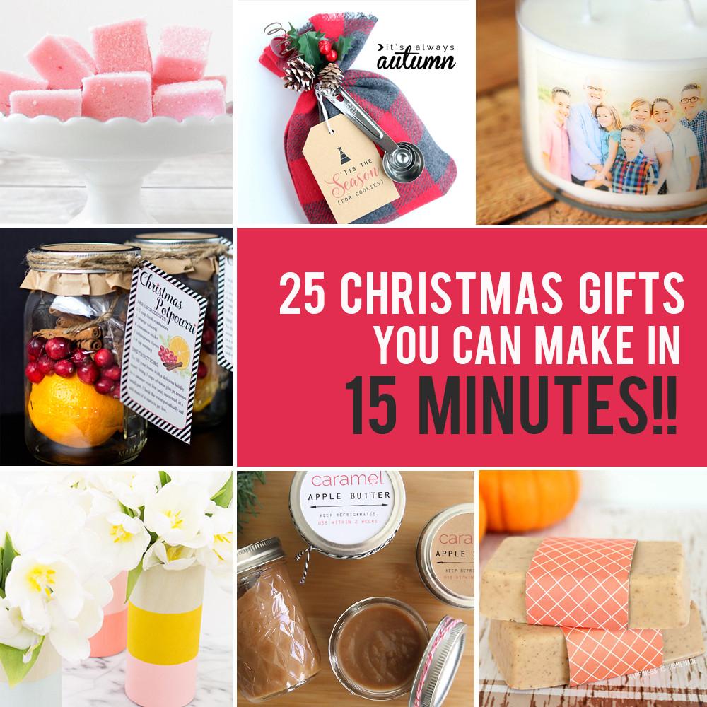 DIY Easy Christmas Gifts  25 easy homemade Christmas ts you can make in 15