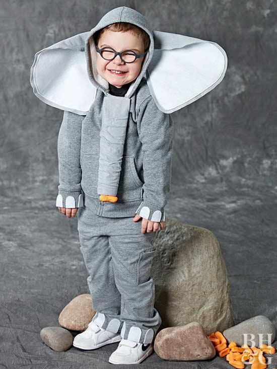 DIY Elephant Costume  Easy to Make Kids Halloween Costumes