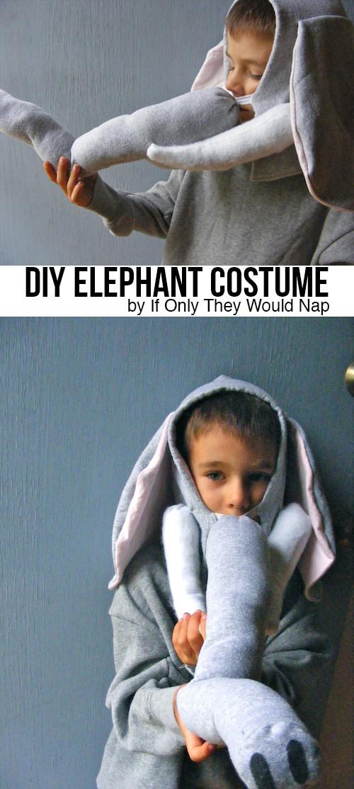 DIY Elephant Costume  DIY Elephant Costume Tutorial includes tusks Andrea s