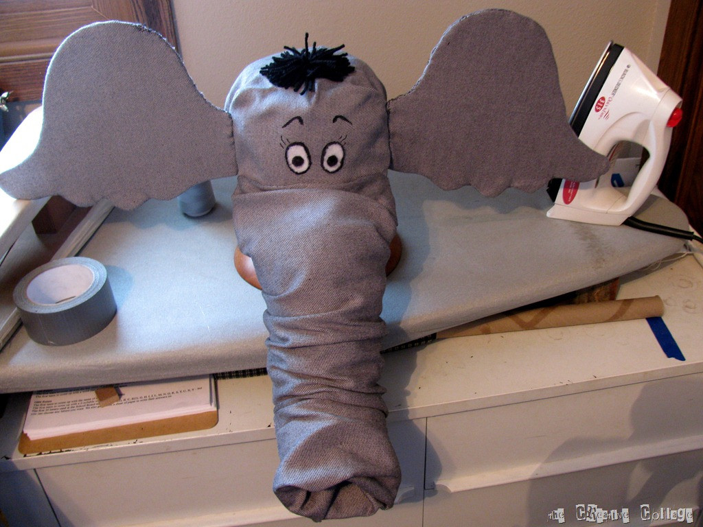 DIY Elephant Costume  Dr Seuss Horton the Elephant Hat Tutorial