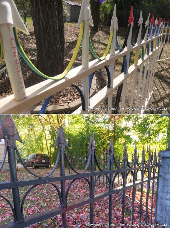 Diy Halloween Fence  Tutorial Wrought Iron Cemetery Fence stolloween