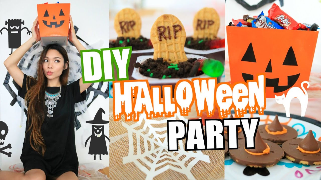 Diy Halloween Party Ideas  EASY DIY HALLOWEEN PARTY DECOR & TREAT IDEAS