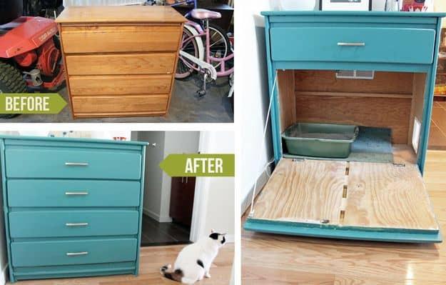 DIY Hidden Cat Litter Box  27 Creative DIY Ways To Hide A Litter Box