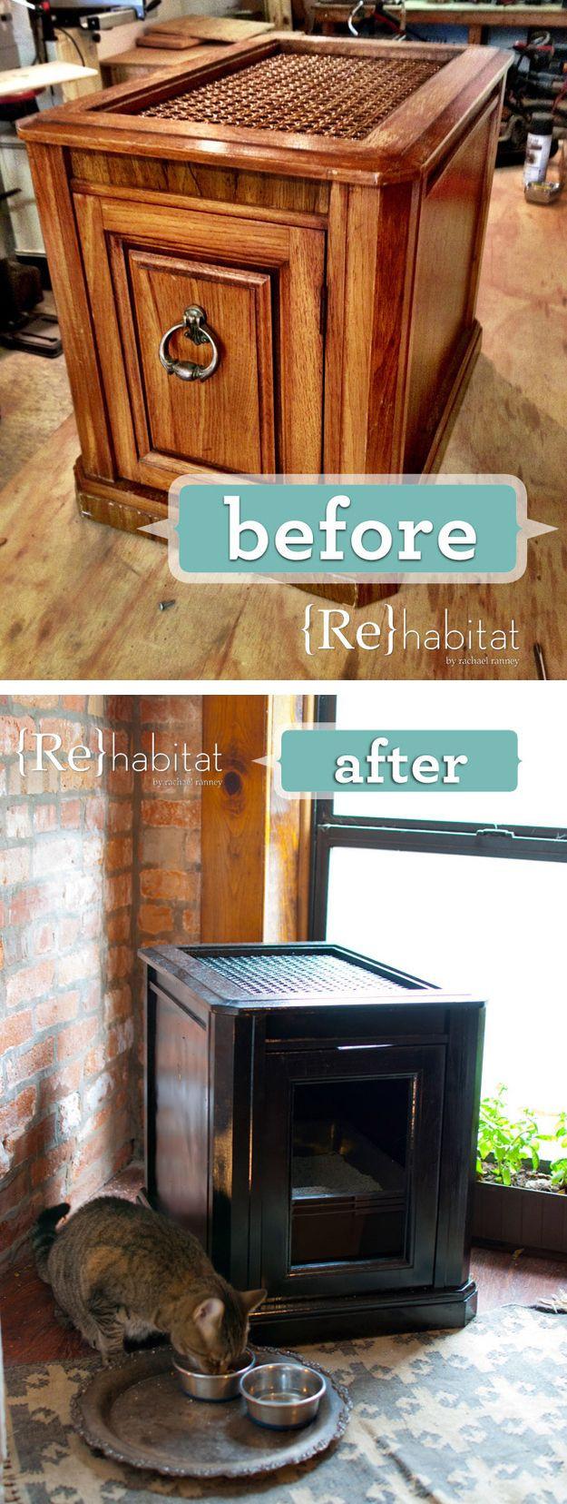 DIY Hidden Cat Litter Box  Best 25 Hidden litter boxes ideas on Pinterest