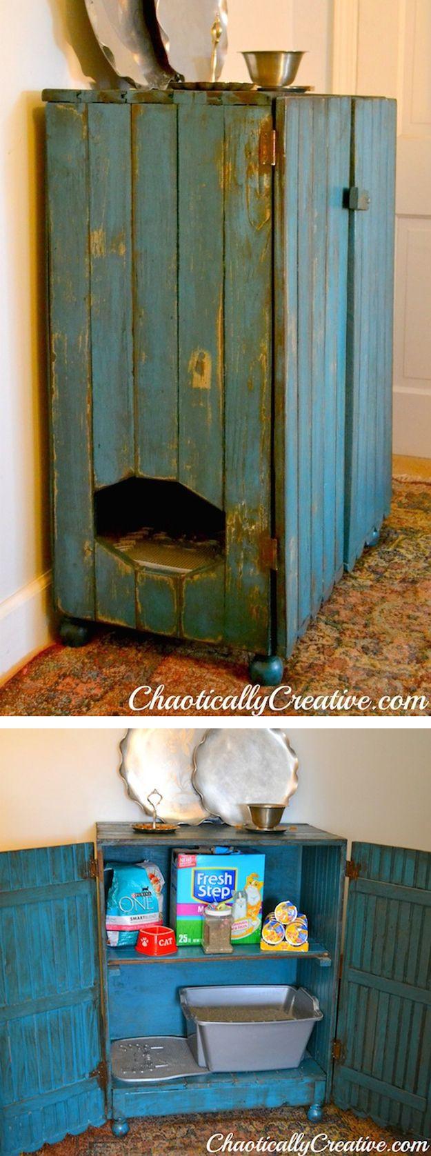 DIY Hidden Cat Litter Box  Best 25 Hide litter boxes ideas on Pinterest