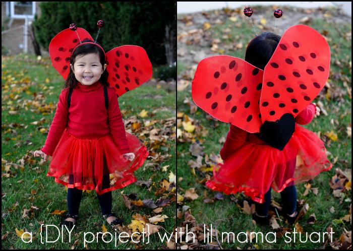 DIY Ladybug Costume  a day with lil mama stuart DIY Wings Ladybug