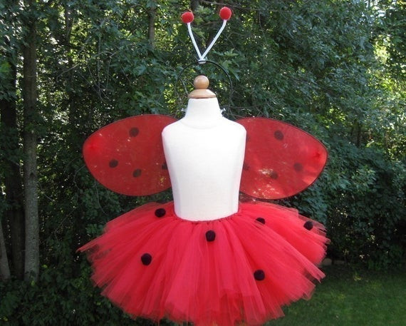 DIY Ladybug Costume  DIY Lady Bug Tutu Kit Halloween Costume Set by baileysblossoms