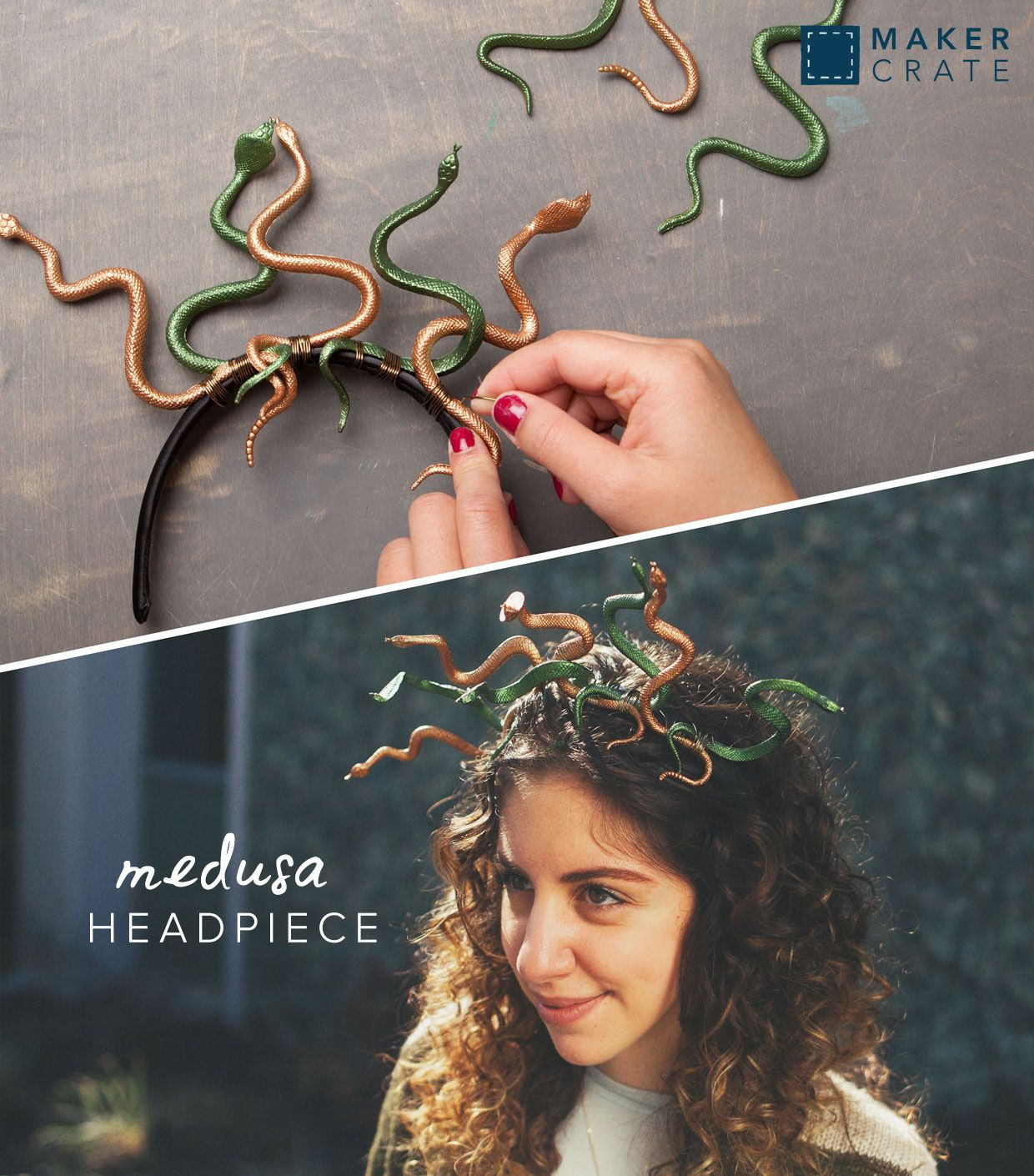 DIY Medusa Costume  Medusa Headpiece