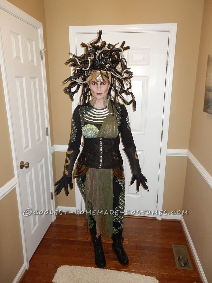 DIY Medusa Costume  Diy costumes Homemade and Halloween costumes on Pinterest