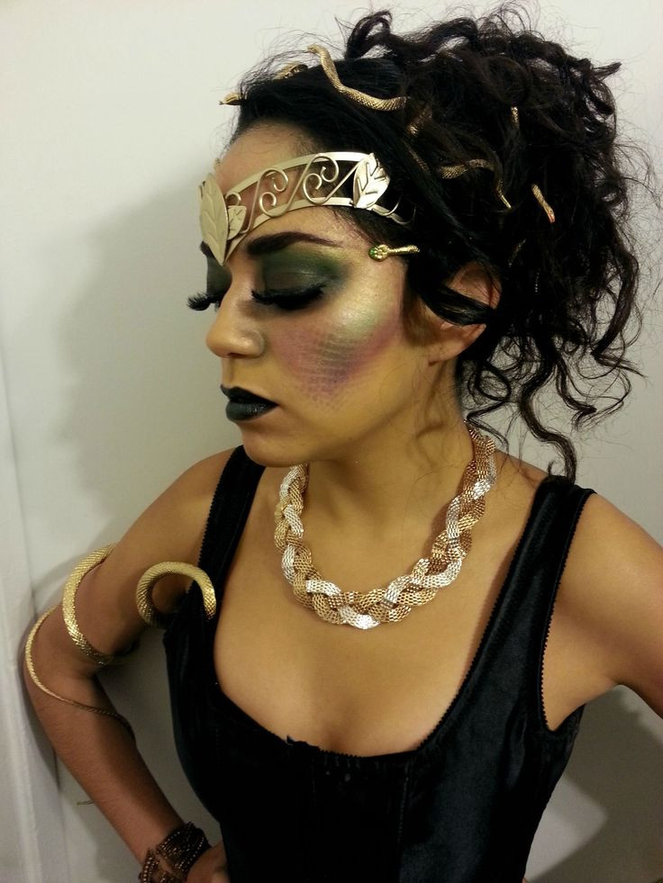 DIY Medusa Costume  Medusa Makeup