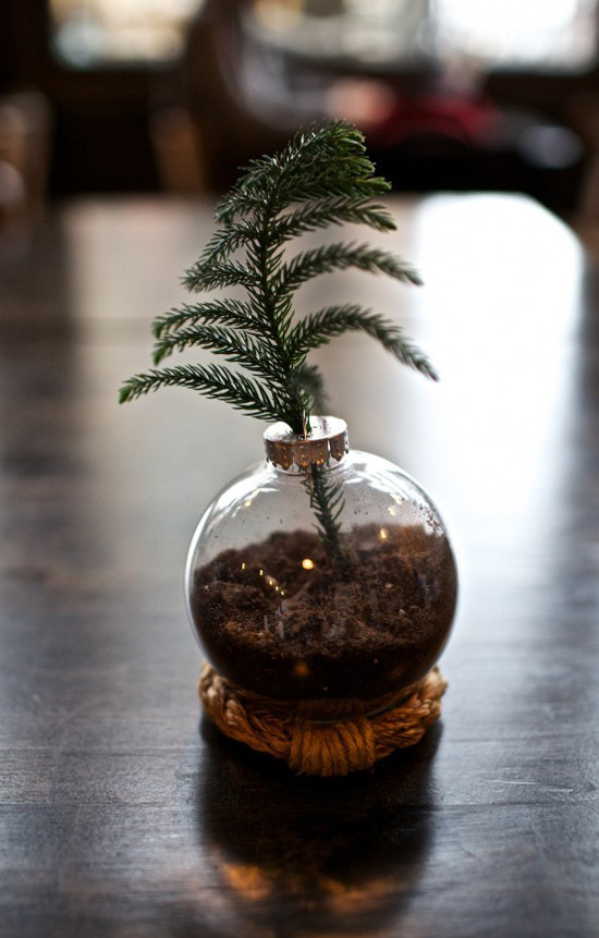 DIY Mini Christmas Trees  25 Ways to Fill a Christmas Ornament The Idea Room