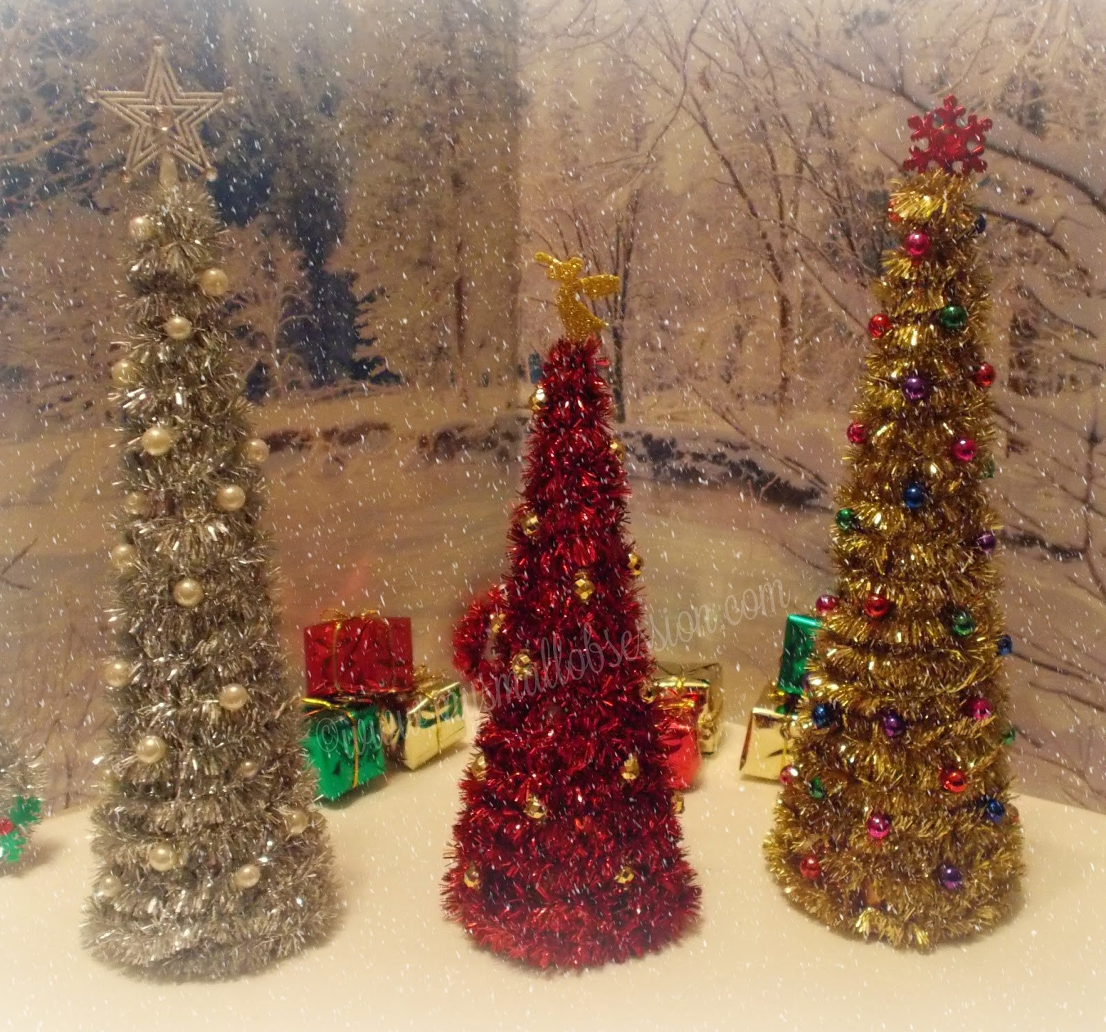 DIY Mini Christmas Trees  My Small Obsession Easy DIY Miniature Christmas Trees