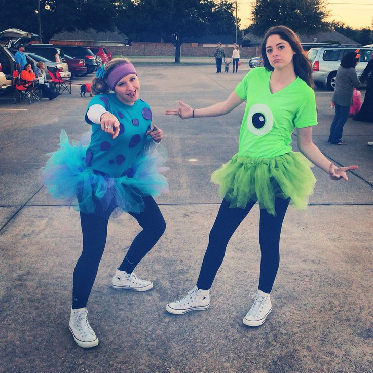 DIY Monster Inc Costume  Sully and mike wazowski costumes from monsters inc