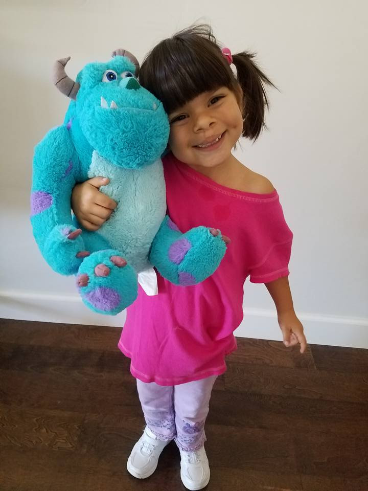 DIY Monster Inc Costume  Boo costume Easy DIY No Sew Boo Costume for this Halloween