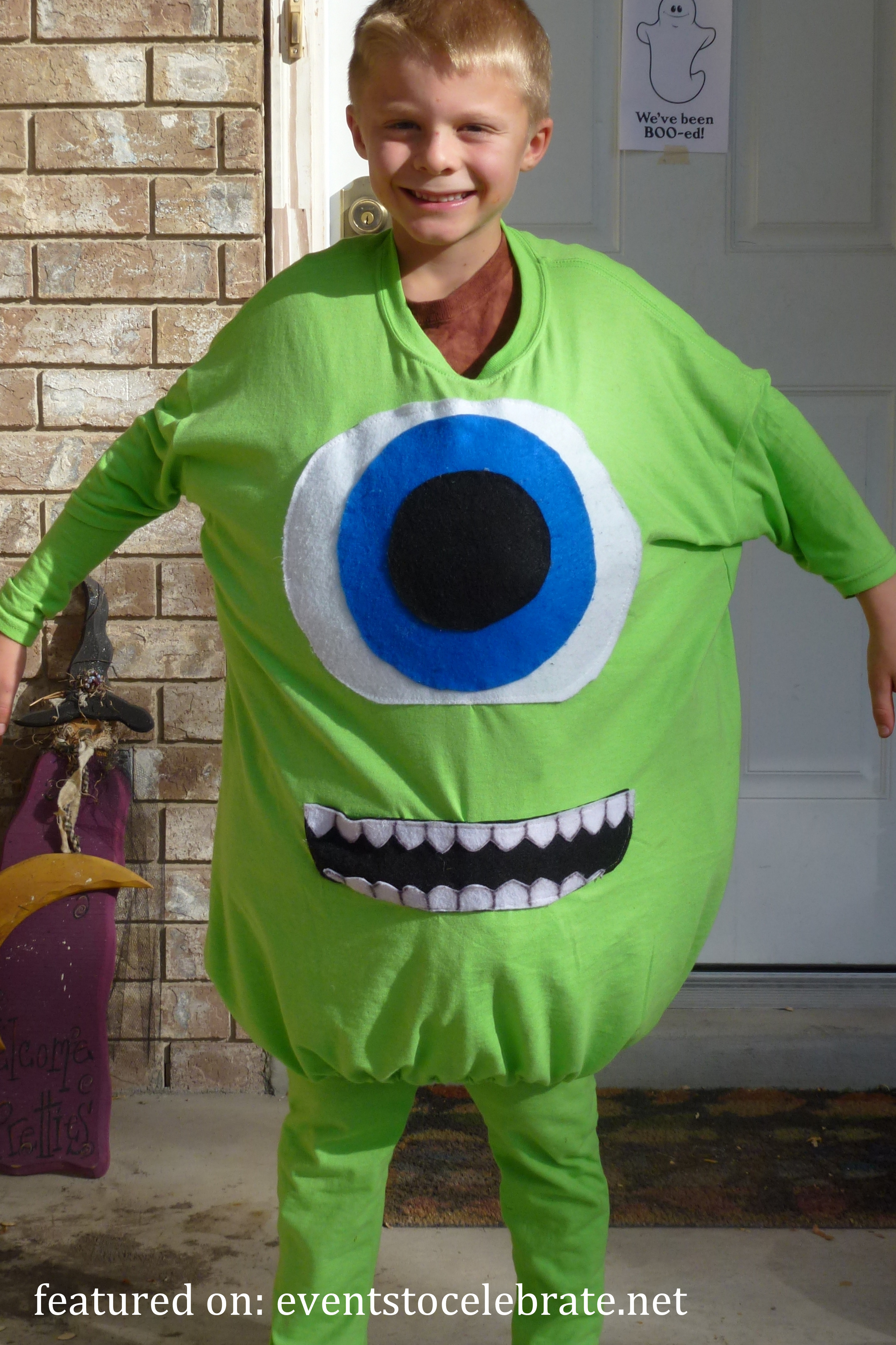 DIY Monster Inc Costume  DIY Halloween Costumes events to CELEBRATE