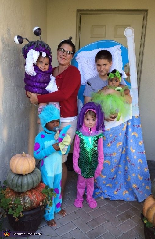 DIY Monster Inc Costume  158 best Fun Family & Group Halloween Costumes images on