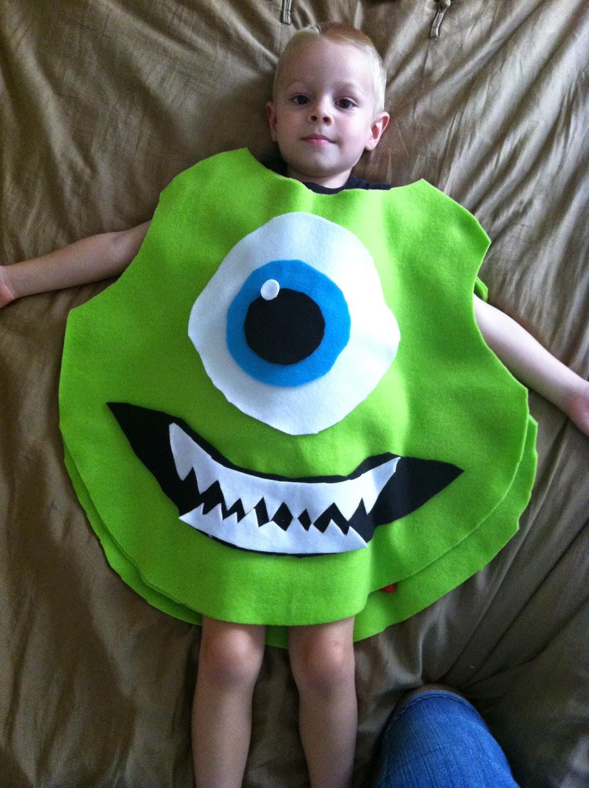 DIY Monster Inc Costume  Chadwicks Picture Place Homemade Mike Wazowski Halloween