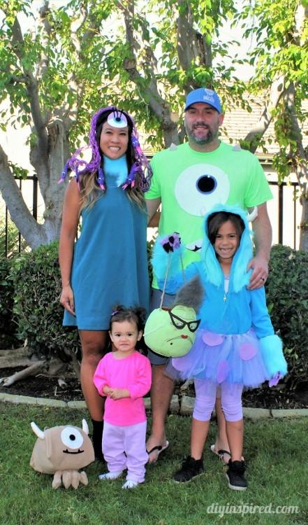 DIY Monster Inc Costume  Monster's Inc Family Halloween Costumes DIY Inspired