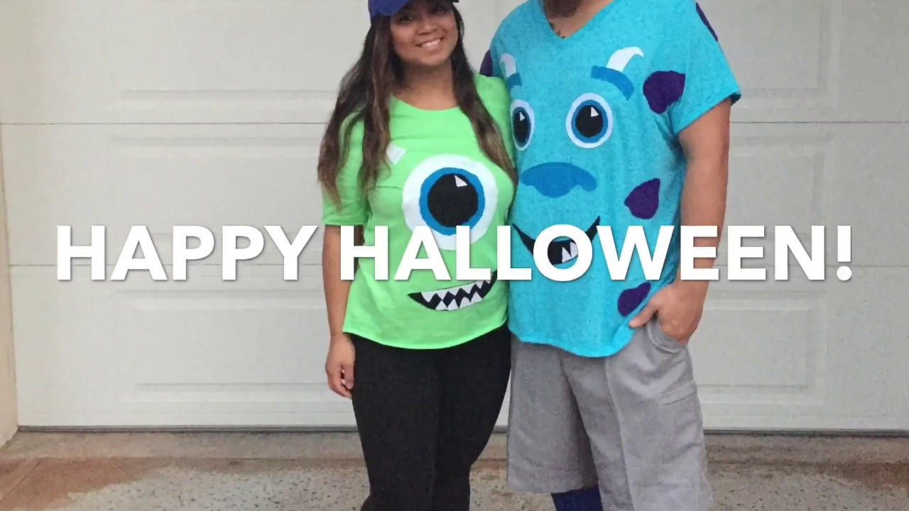 DIY Monster Inc Costume  10 31 16 DIY Monsters Inc Costume