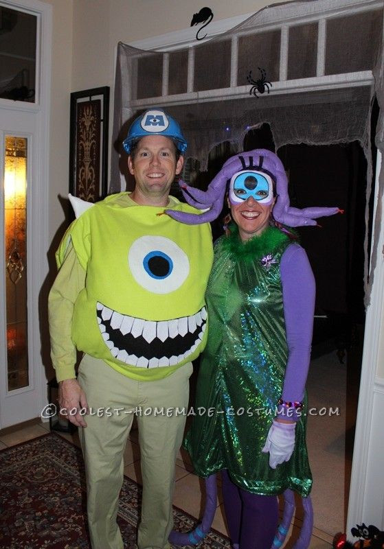 DIY Monster Inc Costume  Coolest DIY Mike Wazowski and Celia Mae Costumes