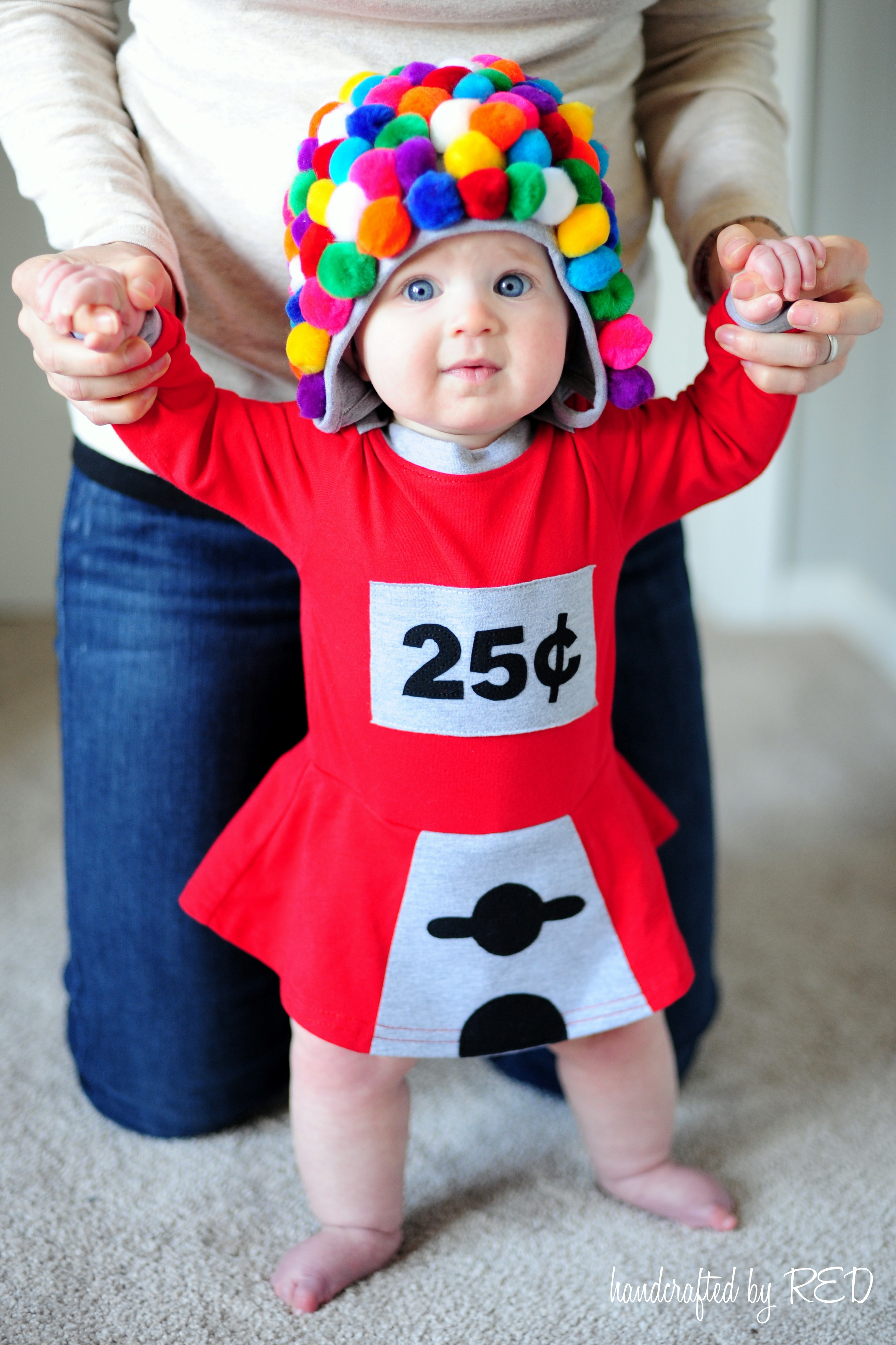 DIY Newborn Halloween Costumes  DIY Baby Gumball Machine Costume Peek a Boo Pages