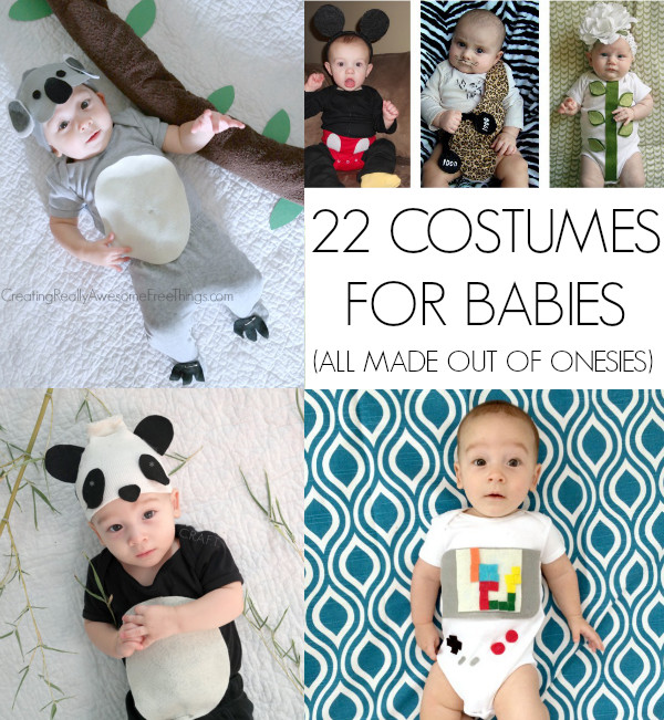 DIY Newborn Halloween Costumes  Homemade Halloween Costumes for Babies C R A F T
