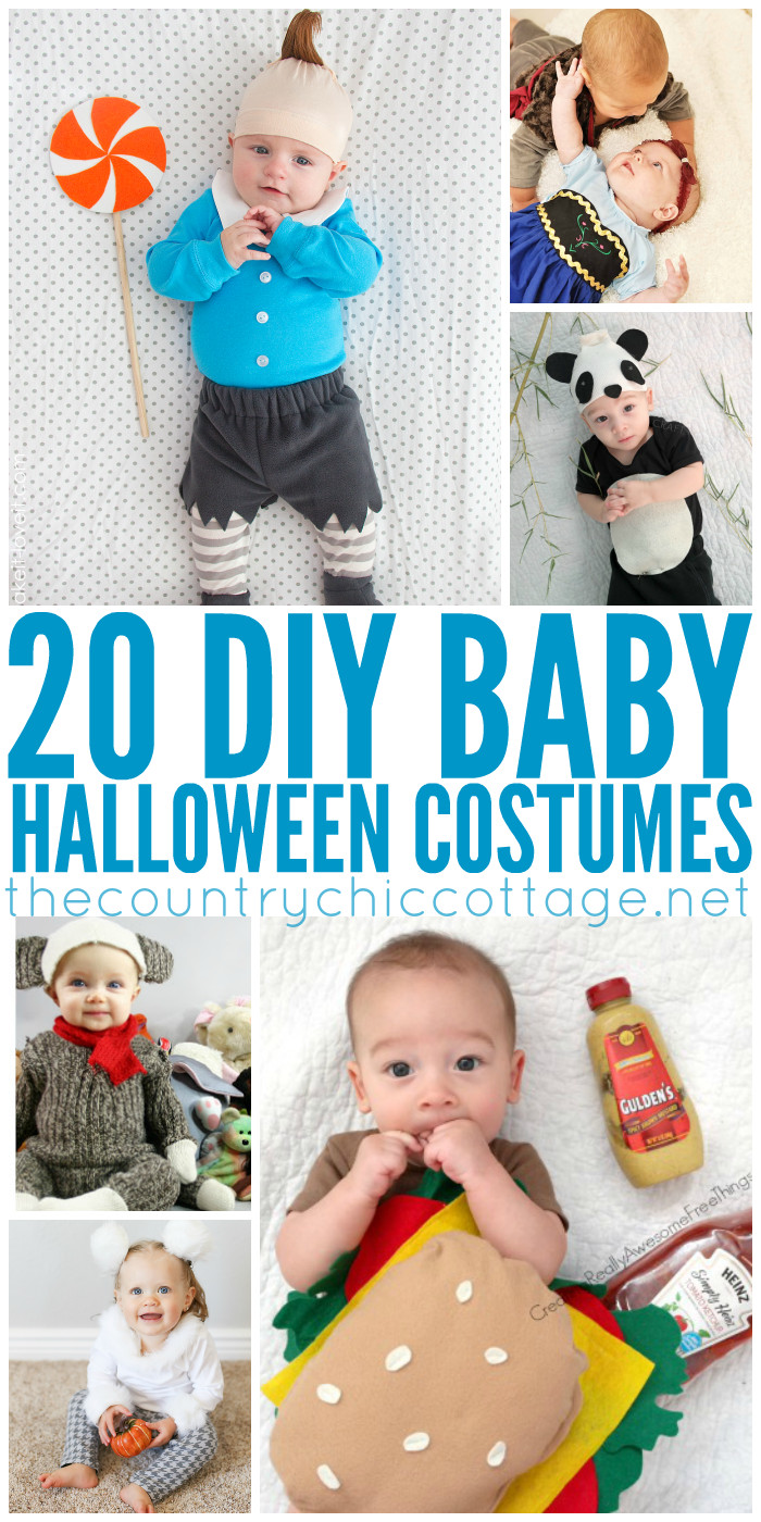 DIY Newborn Halloween Costumes  DIY Halloween Costumes for Baby The Country Chic Cottage