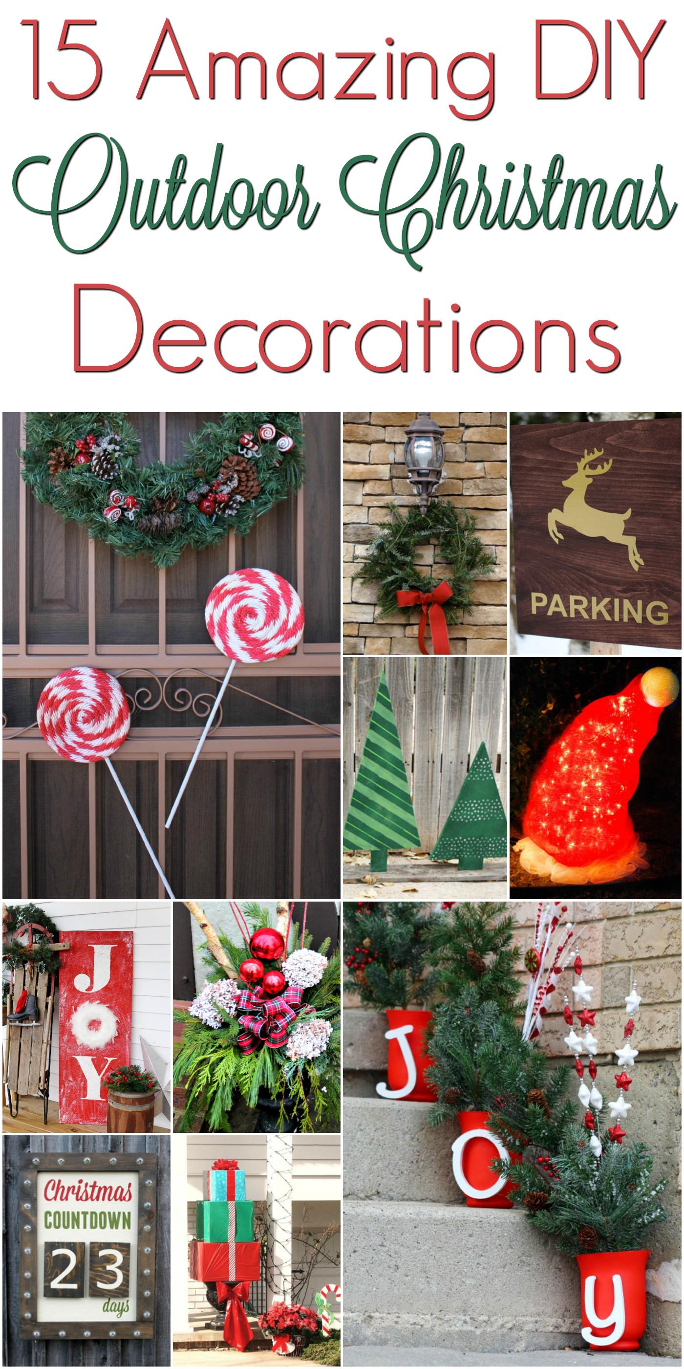 DIY Outdoor Christmas Decorating Ideas  DIY Christmas Outdoor Decorations ChristmasDecorations
