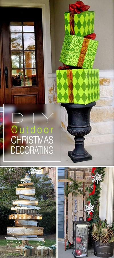 DIY Outdoor Christmas Decorating Ideas  DIY Outdoor Christmas Decorating